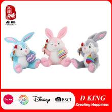 Happy Easter Rabbit Peluches de peluche con huevo y creyón