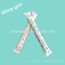Feminine hygiene marke 100% organische applikator tampon aus shenzhen