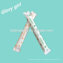 Hygiène féminine marque 100% tampon applicateur biologique de Shenzhen