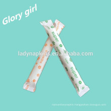 Feminine hygiene brand name 100% organic applicator tampon from shenzhen