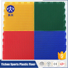 Yichen outdoor PP sport interlocking flooring for badminton flooring