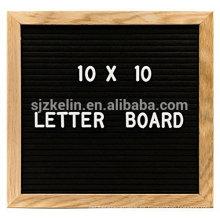 Venta caliente Tablero de carta de fieltro de madera 10x10