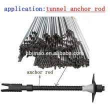 Tubo de aço carbono sem costura sem costura e tubo para túnel e âncora Rod