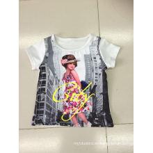 Camiseta preciosa para niña en ropa infantil con estampado fotográfico (SGT-004)