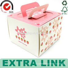 custom pink color packaging design clear cup paper birthday paper cup cake pop box