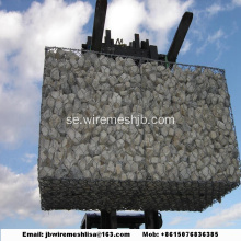 Hot-dip galvaniserad hexagonal mesh Gabion Box