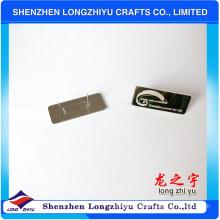 Insignia de la etiqueta del logotipo del metal de los bolsos de encargo, etiqueta del metal para los bolsos, placa de metal para el bolso