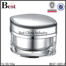 50g skin cream acrylic jar cat eye shape for cosmetics, free sample for small order, embossing cap acrylic cream jar