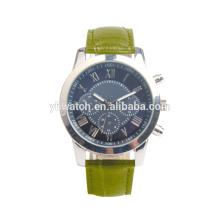 Logotipo personalizado relojes verde oliva correa de cuarzo Weekender