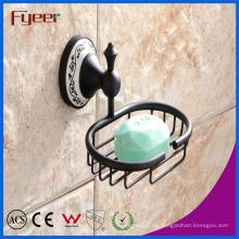 Fyeer Classic Black - Accesorio para baño, latón jabonera
