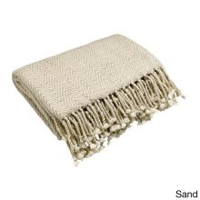 Cobertor de caxemira com padrões de espinha de peixe