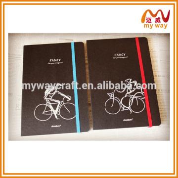 Caderno de design elegante do caderno de papel reciclado escolar com elastica