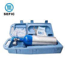 Valves Equipped Aluminum Medical Oxygen Cylinder