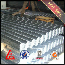 Galvanized corrugated steel sheets for walls
