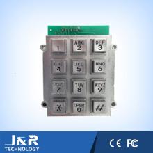 Clavier Bulgy Square Phone avec 12 touches, clavier blindé pour téléphone