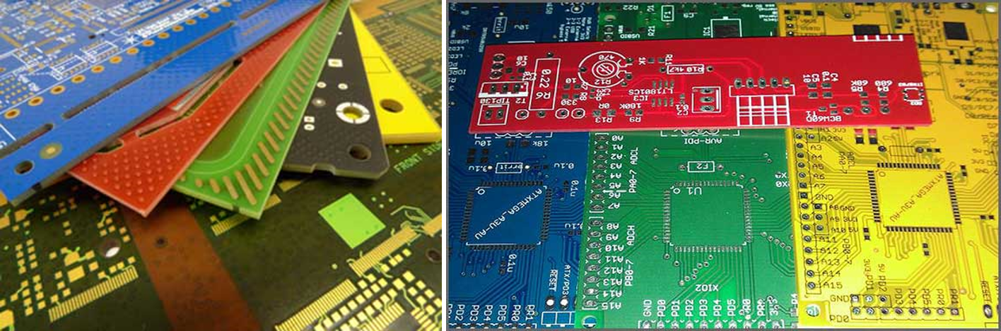 PCB of various colors