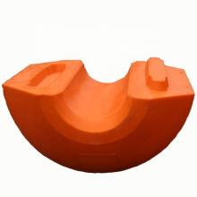 Pontón flotante marino del tubo flotante del mdpe de los ciervos para el tubo de dragado