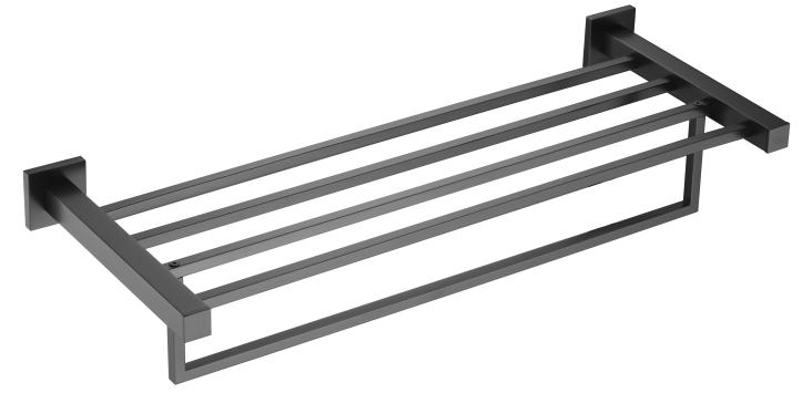 Square Black towel rack outdoor