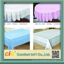 toalha de mesa transparente do pvc com diferentes desenhos de impressão à prova d'água