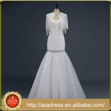 ASA-14 Real Photo 2015 Vestido de noiva de casamento de duas partes Querida Sereia Comprimento do chão Long Tulle Brasil Retail Vestidos de noiva
