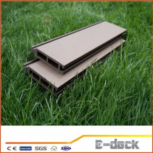 Wpc hollow decking high density outdoor flooring grooved composite flooring