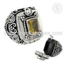 NOUVEAU Génération 925 Sterling Silver Citrine Ring Fournisseur de bijoux en pierre naturelle Gemstone Bijouterie indienne