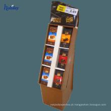 Prateleiras grandes do cartão ondulado do tamanho usadas para introduzir no mercado, prateleira de exposição relativa à promoção do cartão