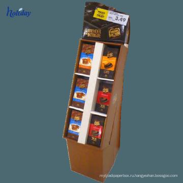 Большой размер гофрированного картона полки используется на рынке,картона полки Дисплей