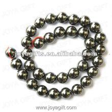 Perles rondes d'hématite magnétique en vrac de 12 mm 16 po