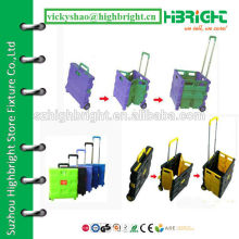 portable folding cart with lids