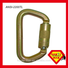 ANSI CE EN362 ANSI Z359 1 aço tipo D bloqueio triplo gancho de segurança