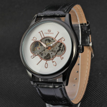 Leather belt wrist Automatic Mens sport watches
