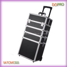Large Storage Space Nail Aluminum Trolley Case (SATCMC021)