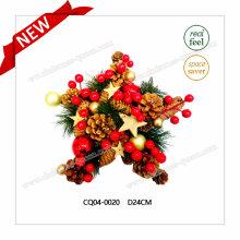 Dia. Boule de Noël en pin et cerise PE de 10 pouces pour la décoration de fête