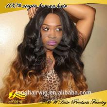 Длинные волнистые Виргинский Бразильский волос 1b/#30 Ломбер парик фронта шнурка человеческих волос парик Топпер