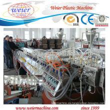 Máquina de producción de chapa acanalada de 920 mm de ancho PVC / PET / PC