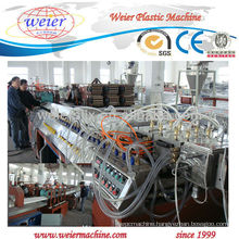 920mm width PVC/PET/PC corrugated roof sheet production machine