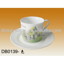 ceramic cup and plate set