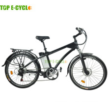 M2 cheap 26inch simple design front suspension mountain electric bike