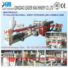 Máquina de producción de placa / placa de rejilla hueca de PC de placa de maquinaria de plástico