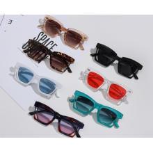 Hot sale creative design vintage retro acrylic gradient women plastic sunglasses