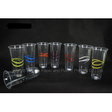 Disposable Transparent Plastic Cup of 90mm Upper Diameter
