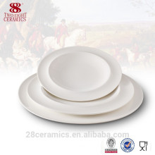 promotional crockery bone china soup plate, ceramic tableware for restaurant