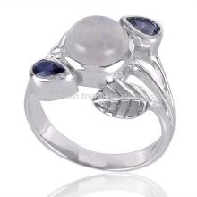 New Arrival à la mode Iolite et Rainbow Moonstone 925 Sterling Silver Ring
