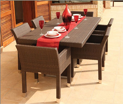 Rectangle Patio Dining Set