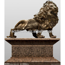 Large Modern Arts animals Lion outdoor decoration copper statue for Urban building