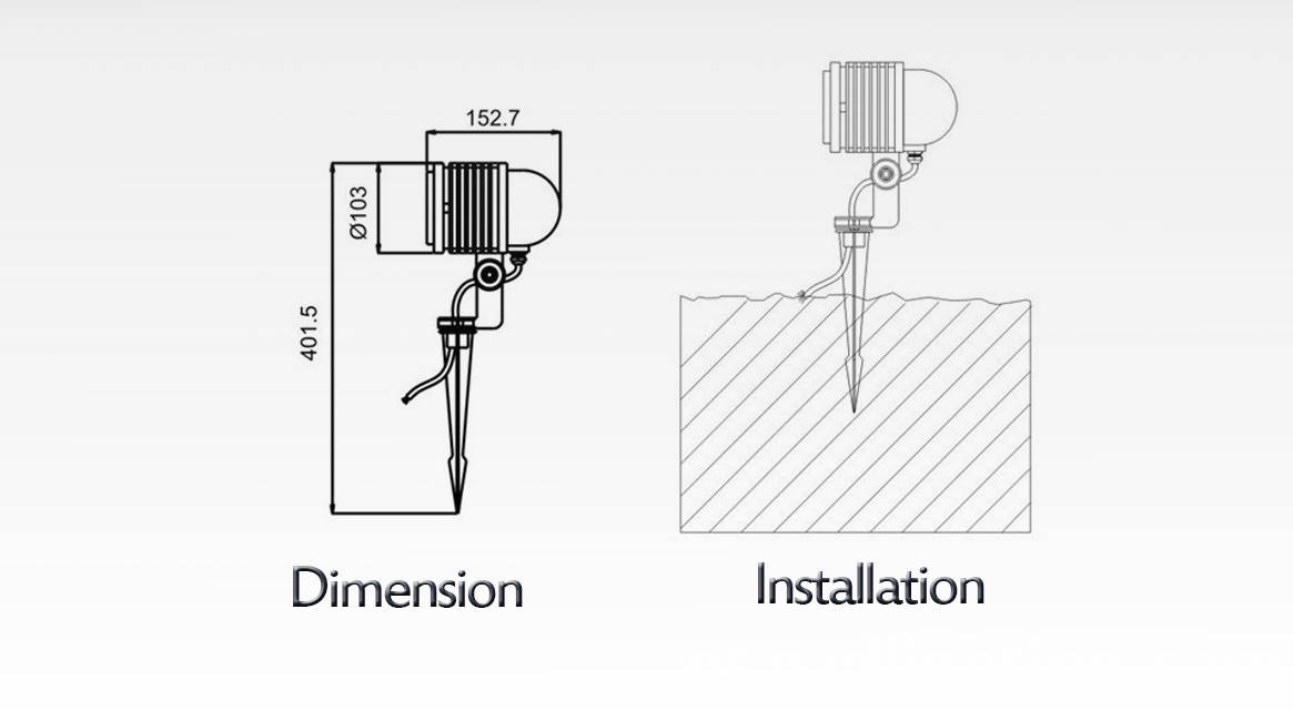 dimension and installation
