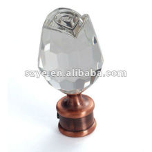 Glass curtain finials for curtain rod decoration make your home comfortable