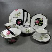 Set di stoviglie Flower Porcelain Round