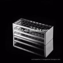 Support de tube à essai / tube de centrifugation d'acier inoxydable de 13mm